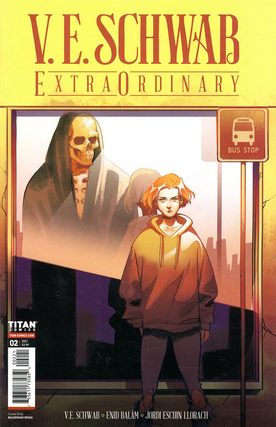 VE Schwabs Extraordinary #2 Cover B Variant Baldemar Rivas Cover