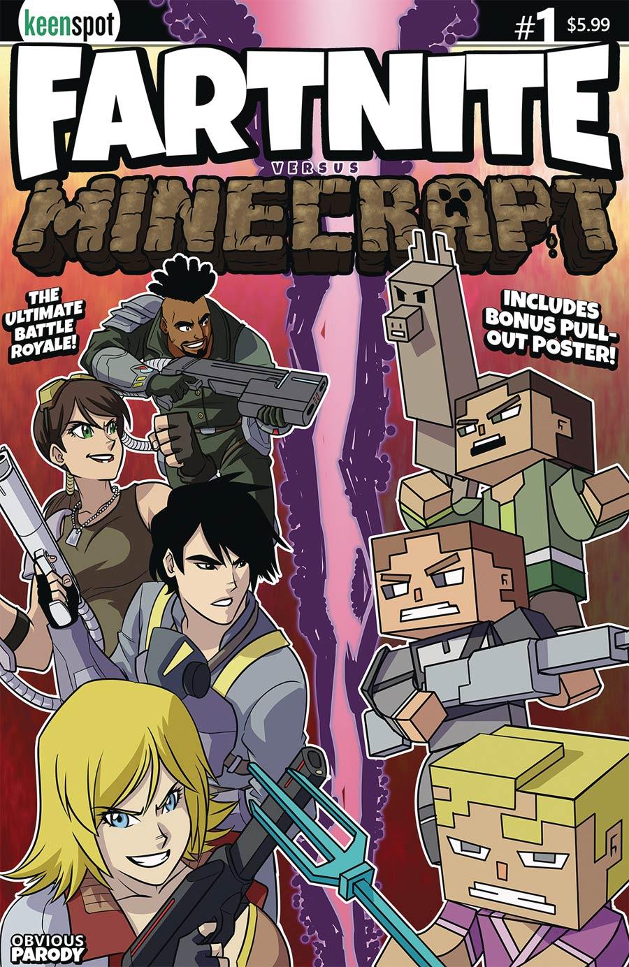 Fartnite vs Minecrapt #1 Cover A Regular Remy Eisu Mokhtar Cover