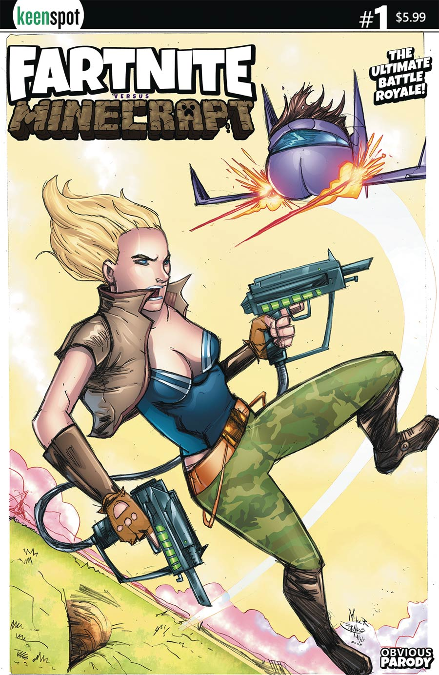 Fartnite vs Minecrapt #1 Cover C Variant Mike Rosenzweig Cover