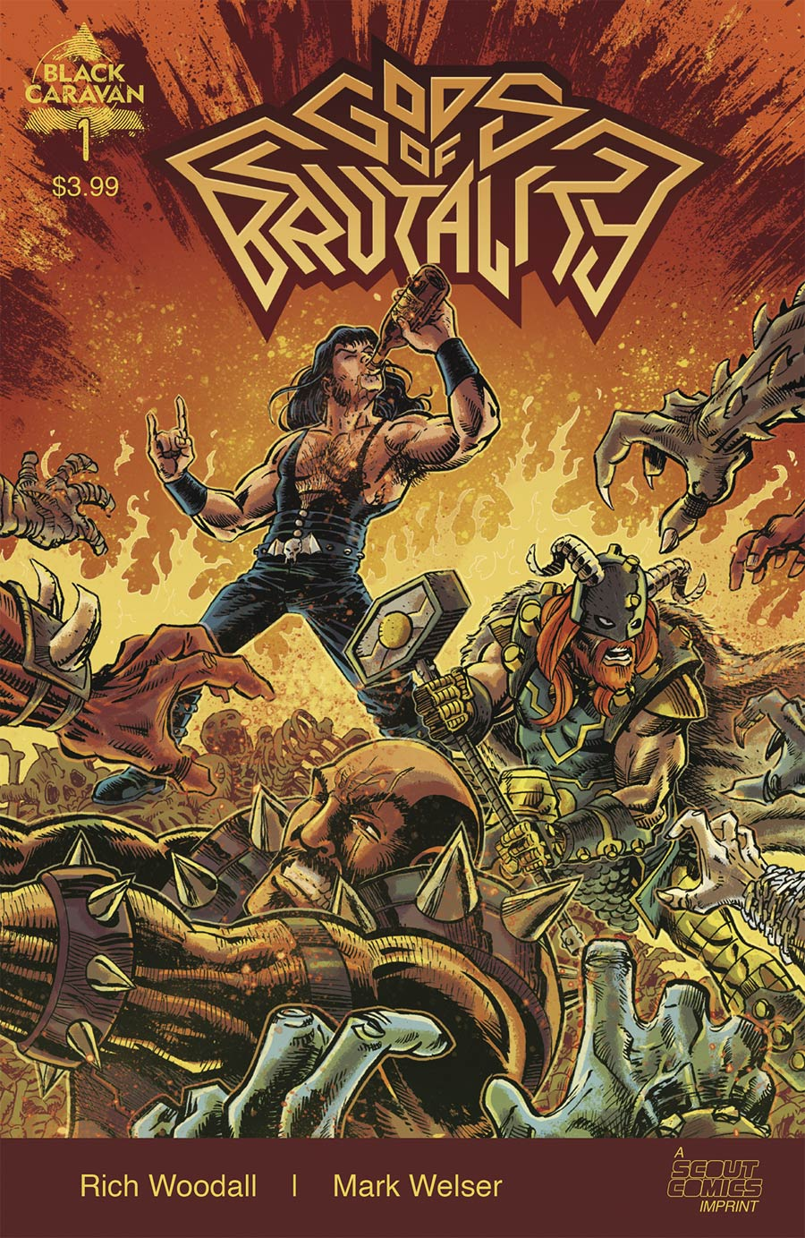 Gods Of Brutality #1 Cover A Regular Mark Welser Cover