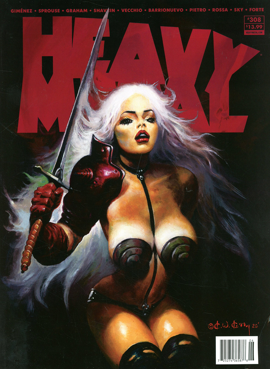 Heavy Metal #308 Cover A Regular Ken Kelly Cover