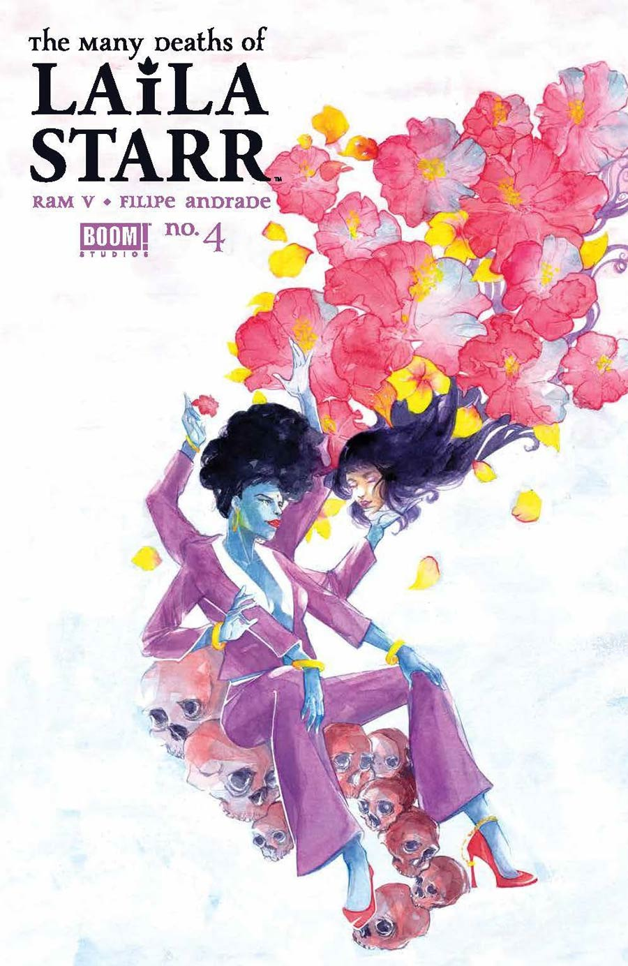 Many Deaths Of Laila Starr #4 Cover B Variant Ariela Kristantina Death Foil Cover