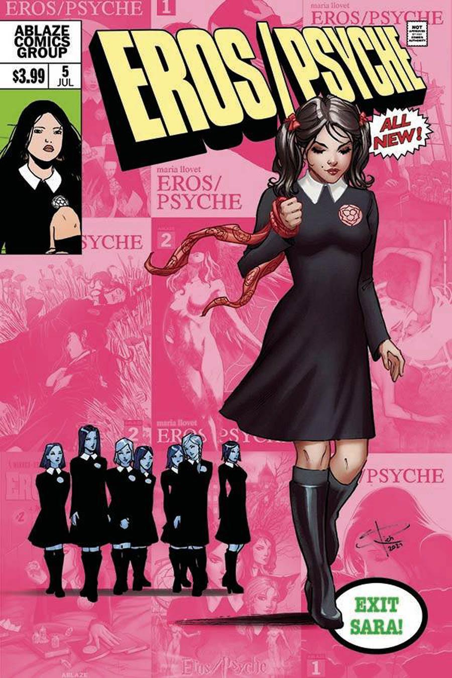 Maria Llovets Eros Psyche #5 Cover D Variant Sabine Rich X-Men 138 Parody Cover