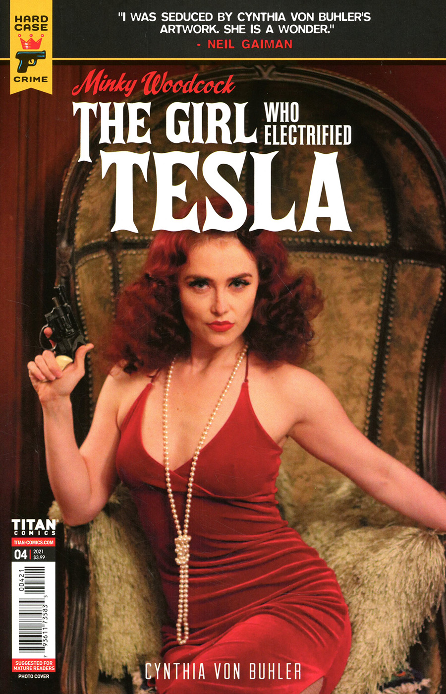 Hard Case Crime Minky Woodcock Girl Who Electrified Tesla #4 Cover B Variant Photo Cover
