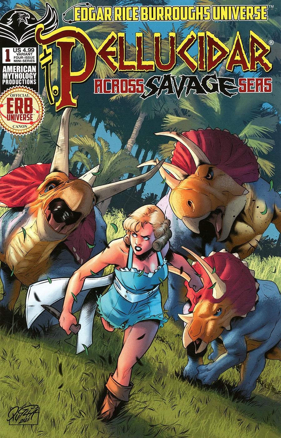 Pellucidar Across Savage Seas #1 Cover B Variant Mike Wolfer Cover