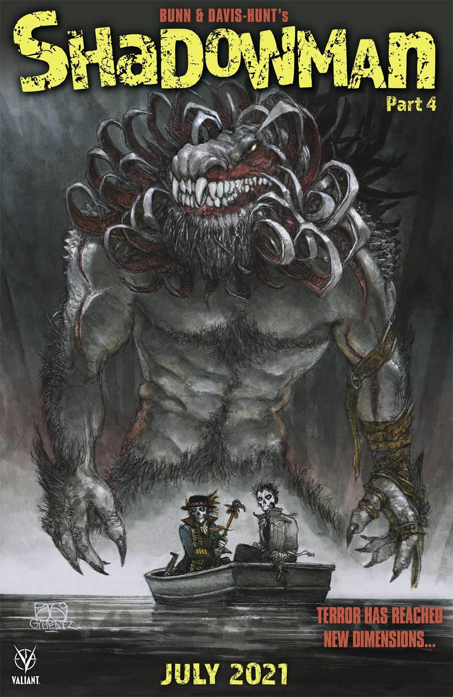 Shadowman Vol 6 #4 Cover C Variant Juan Gimenez Horror Movie Homage Cover