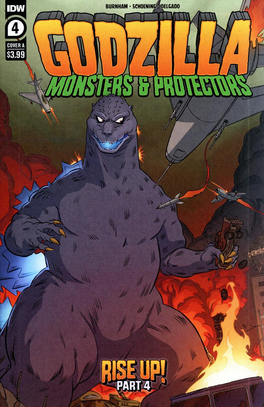 Godzilla Monsters & Protectors #4 Cover A Regular Dan Schoening Cover