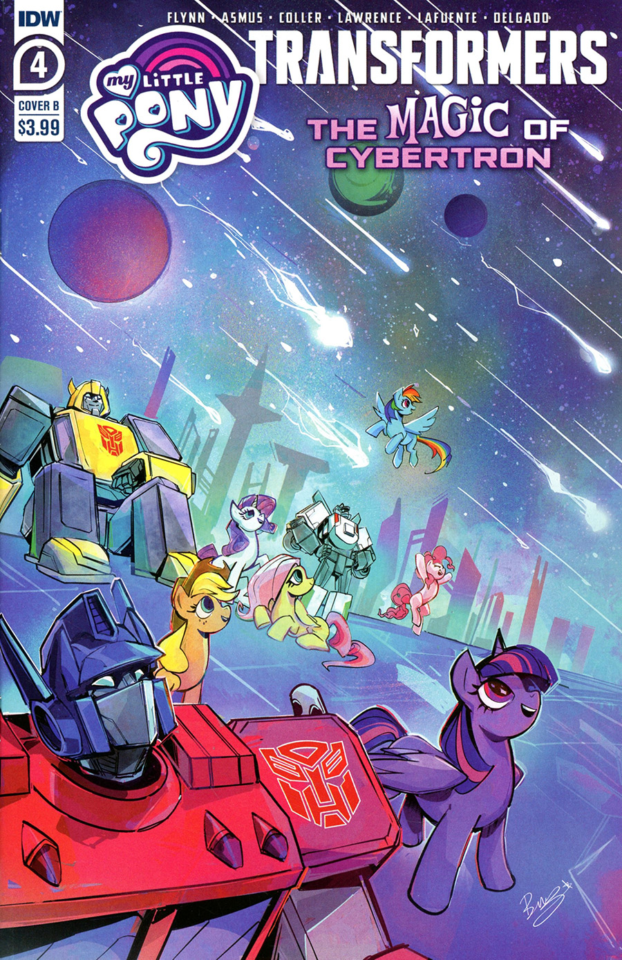 My Little Pony Transformers Friendship In Disguise II #4 Cover B Variant Bethany McGuire-Smith Cover