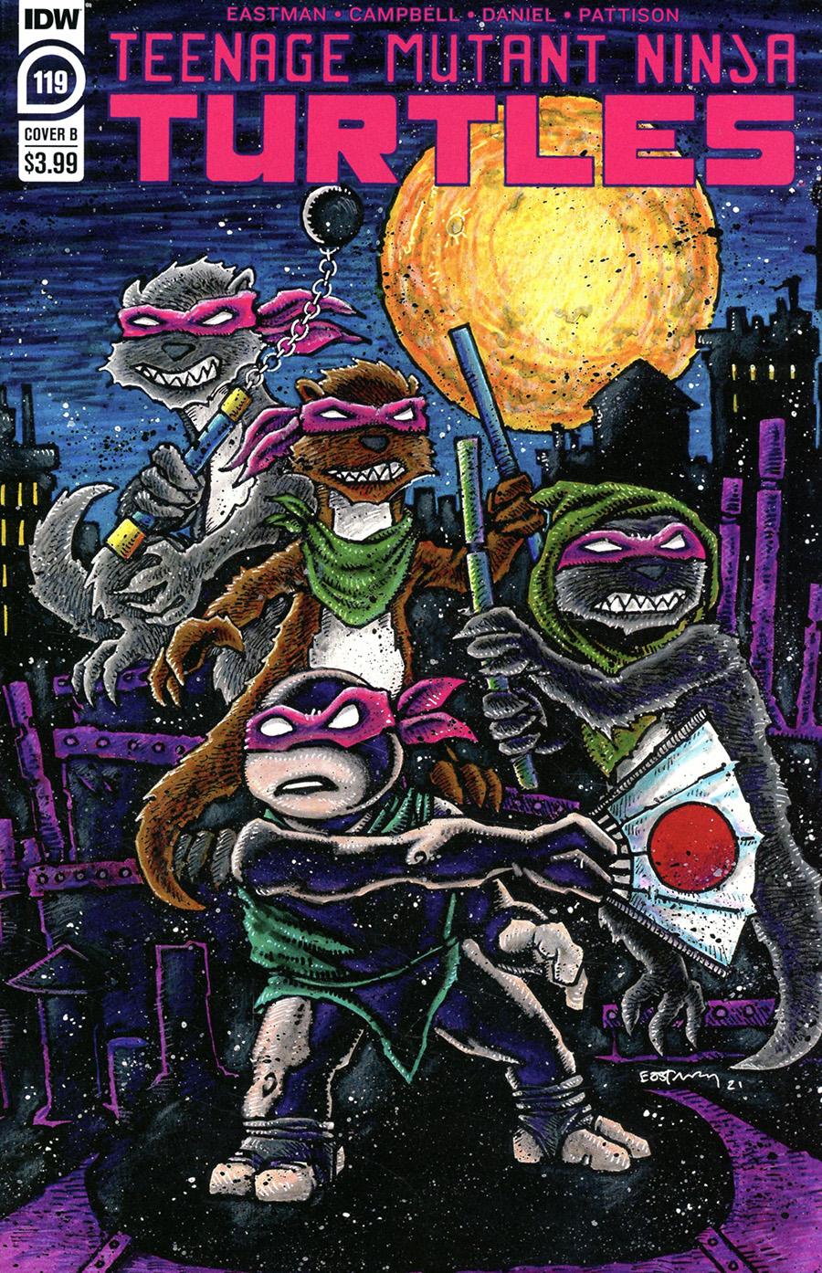Teenage Mutant Ninja Turtles Vol 5 #119 Cover B Variant Kevin Eastman Cover