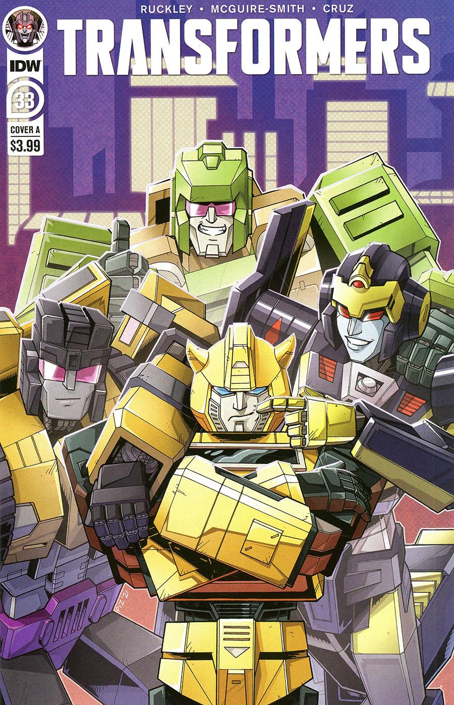 Transformers Vol 4 #33 Cover A Regular Ed Pierre Cover
