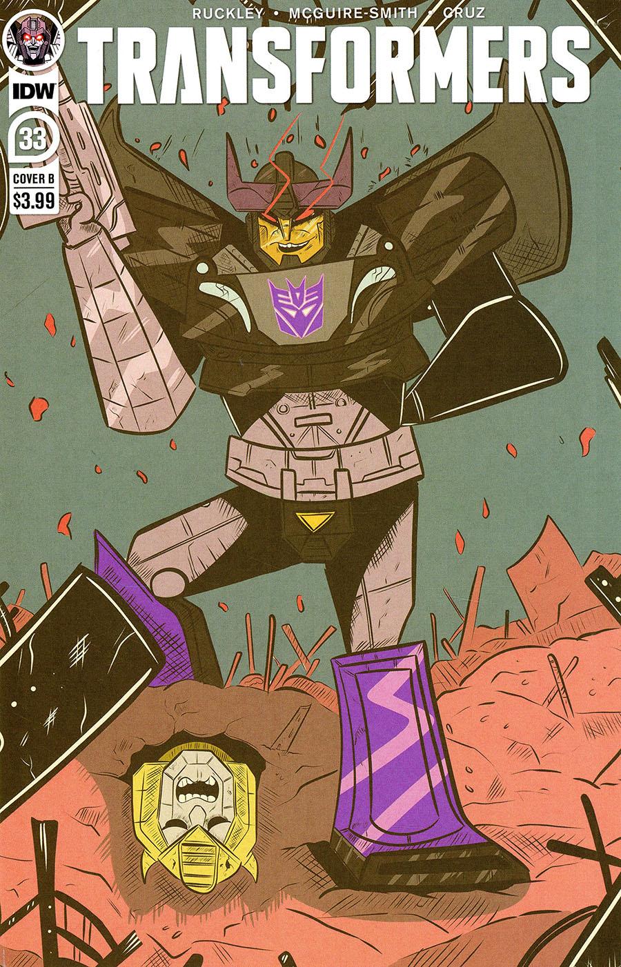 Transformers Vol 4 #33 Cover B Variant Lane Lloyd Cover
