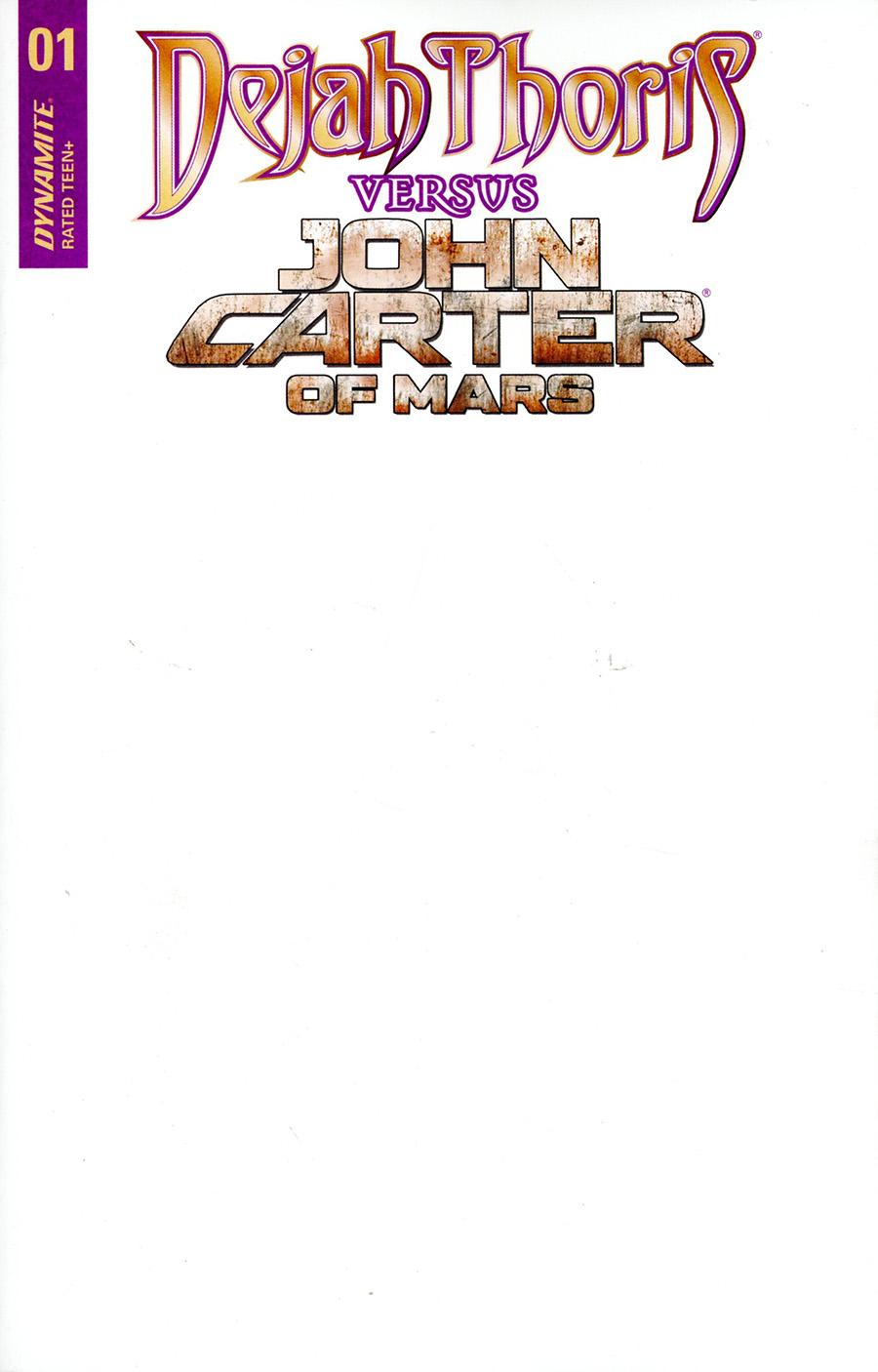 Dejah Thoris Versus John Carter Of Mars #1 Cover E Variant Blank Authentix Cover