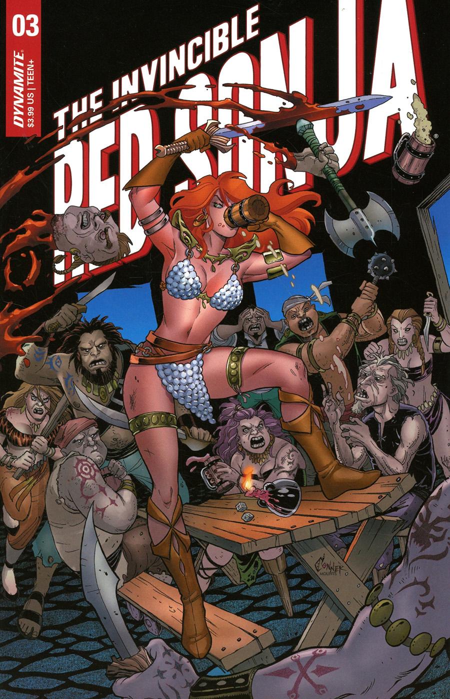 Invincible Red Sonja #3 Cover A Regular Amanda Conner Cover