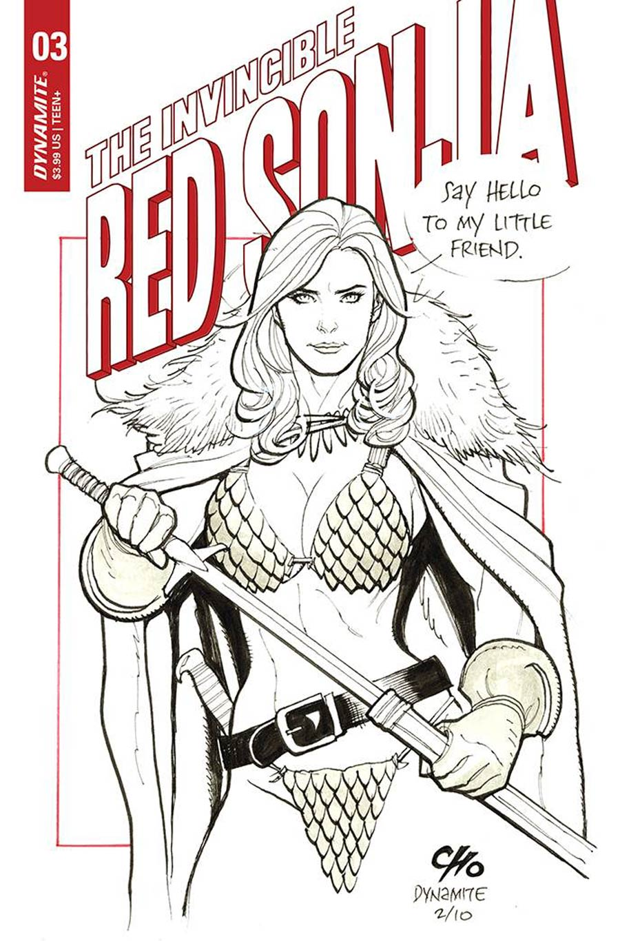 Invincible Red Sonja #3 Cover D Variant Frank Cho Outrage Cover