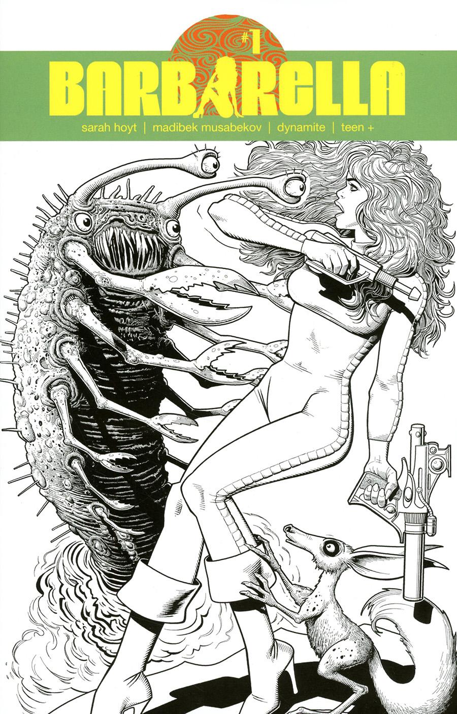 Barbarella Vol 2 #1 Cover K Incentive Brian Bolland Line Art Cover