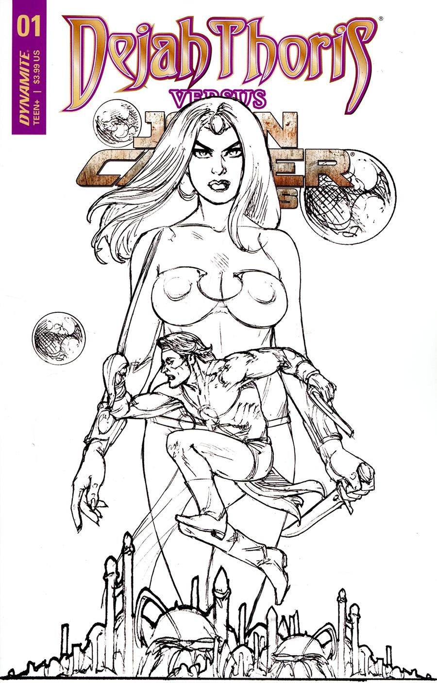 Dejah Thoris Versus John Carter Of Mars #1 Cover G Incentive Joseph Michael Linsner Pencils Cover