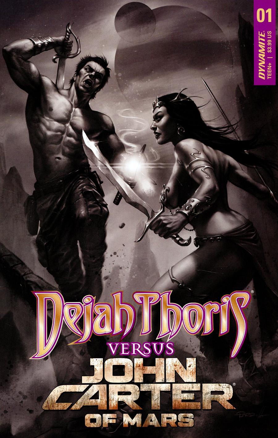 Dejah Thoris Versus John Carter Of Mars #1 Cover K Incentive Lucio Parrillo Black & White Cover
