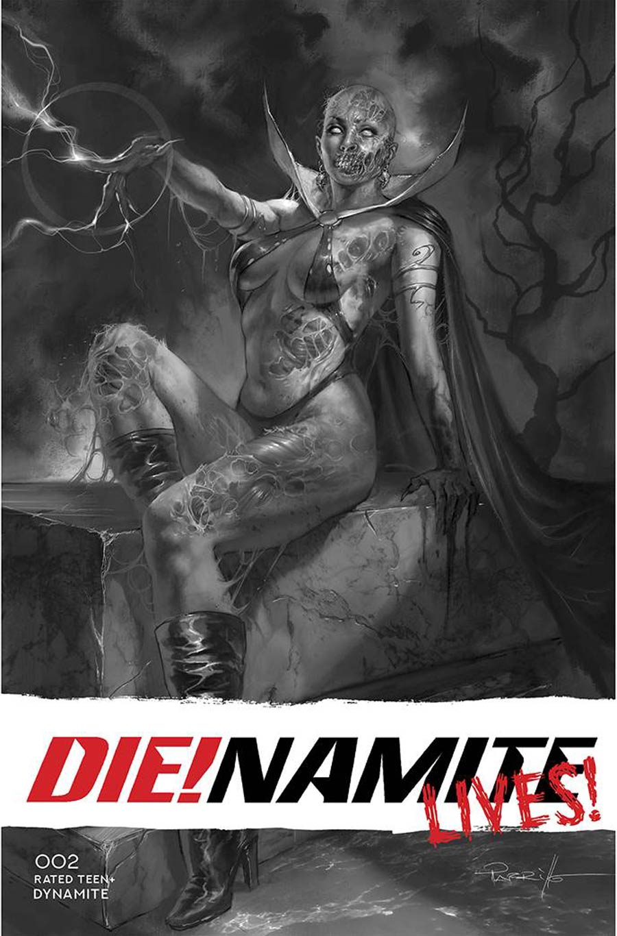 DieNamite Lives #2 Cover K Incentive Lucio Parrillo Line Art Cover