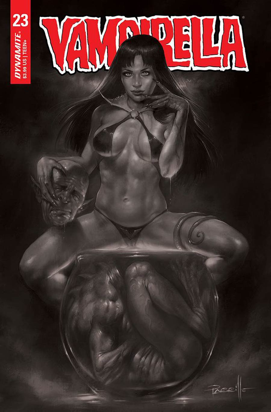 Vampirella Vol 8 #23 Cover F Incentive Lucio Parrillo Black & White Cover