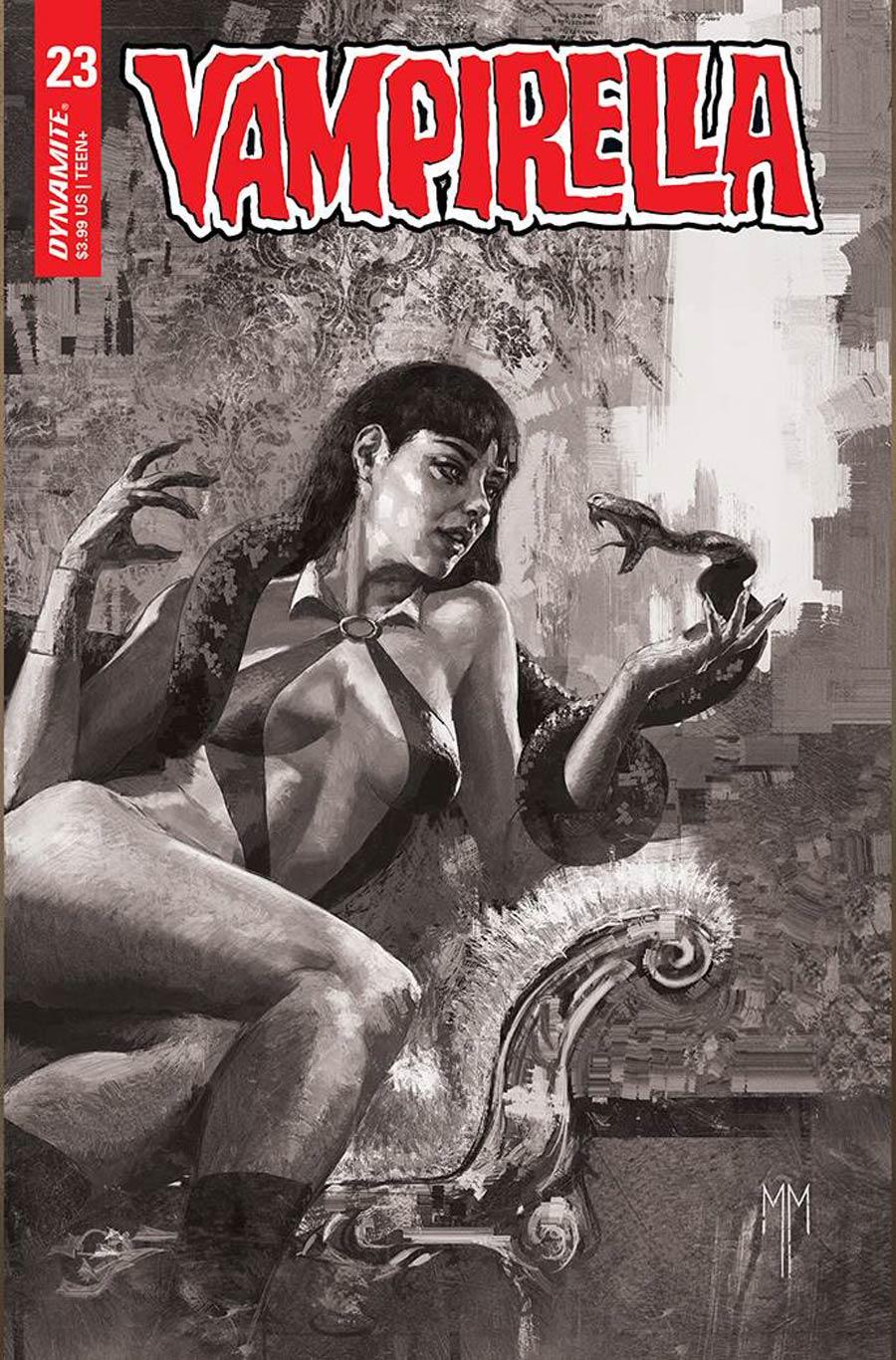 Vampirella Vol 8 #23 Cover J Incentive Marco Mastrazzo Black & White Cover
