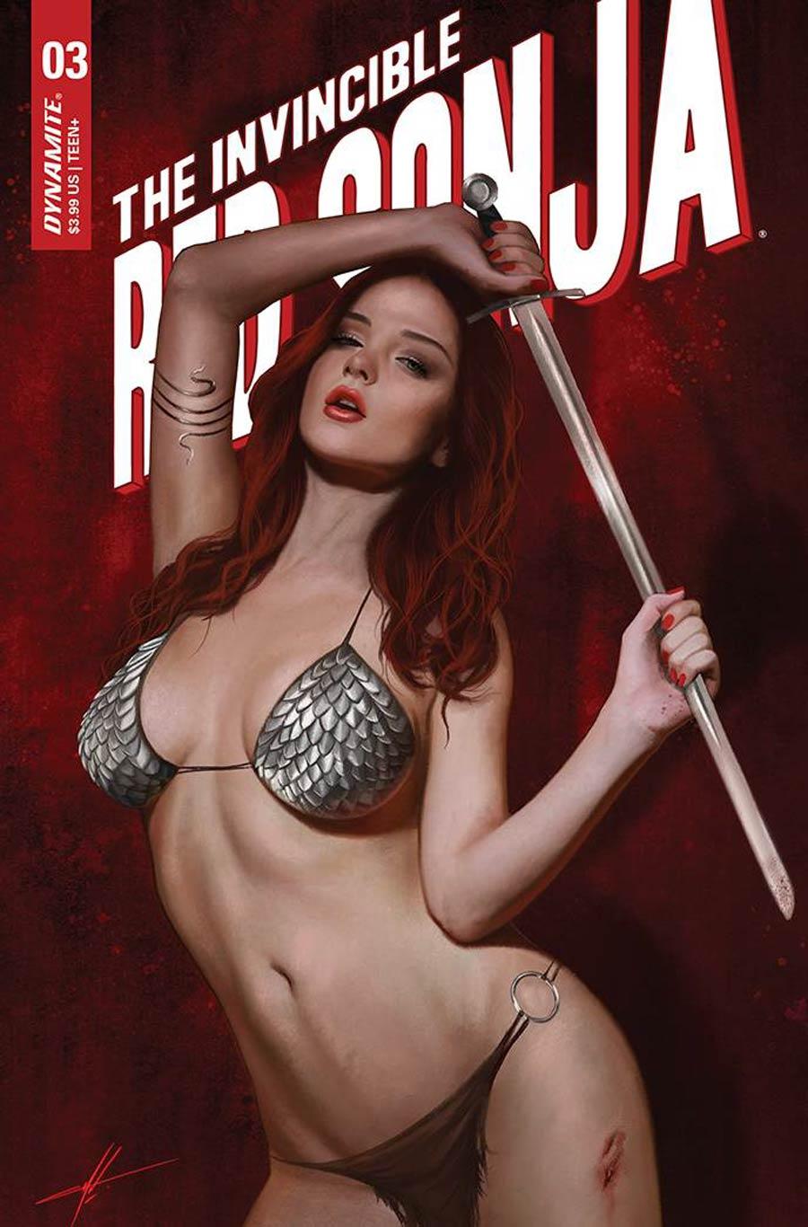 Invincible Red Sonja #3 Cover F Incentive Carla Cohen Variant Cover