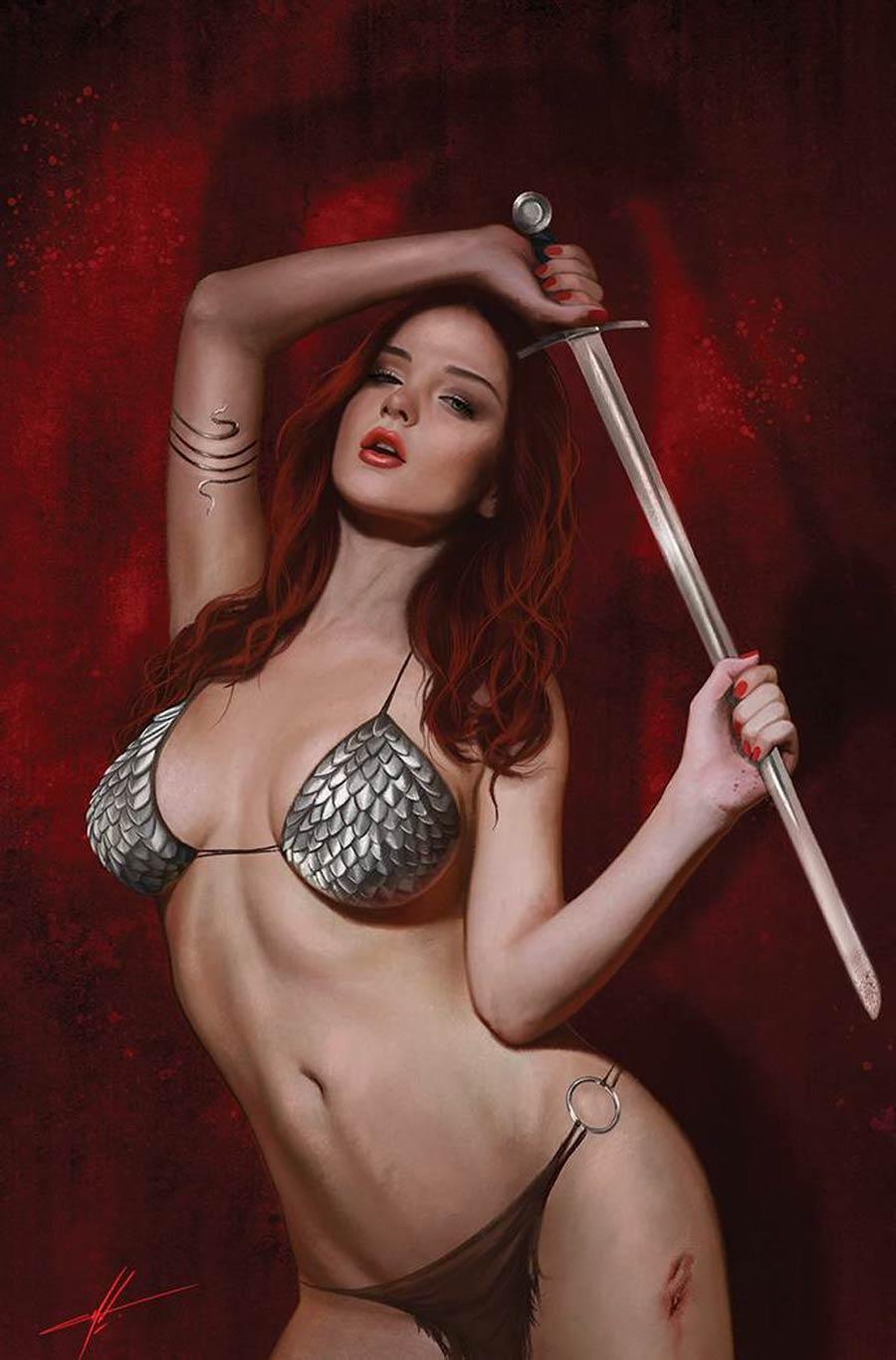 Invincible Red Sonja #3 Cover J Incentive Carla Cohen Virgin Cover