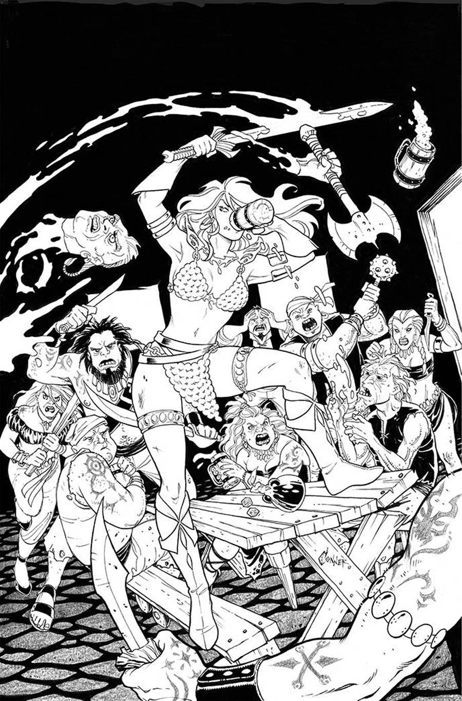 Invincible Red Sonja #3 Cover K Incentive Amanda Conner Line Art Virgin Cover