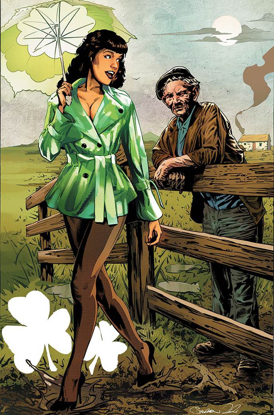 Bettie Page And The Curse Of The Banshee #2 Cover O Limited Edition Stephen Mooney Virgin Cover