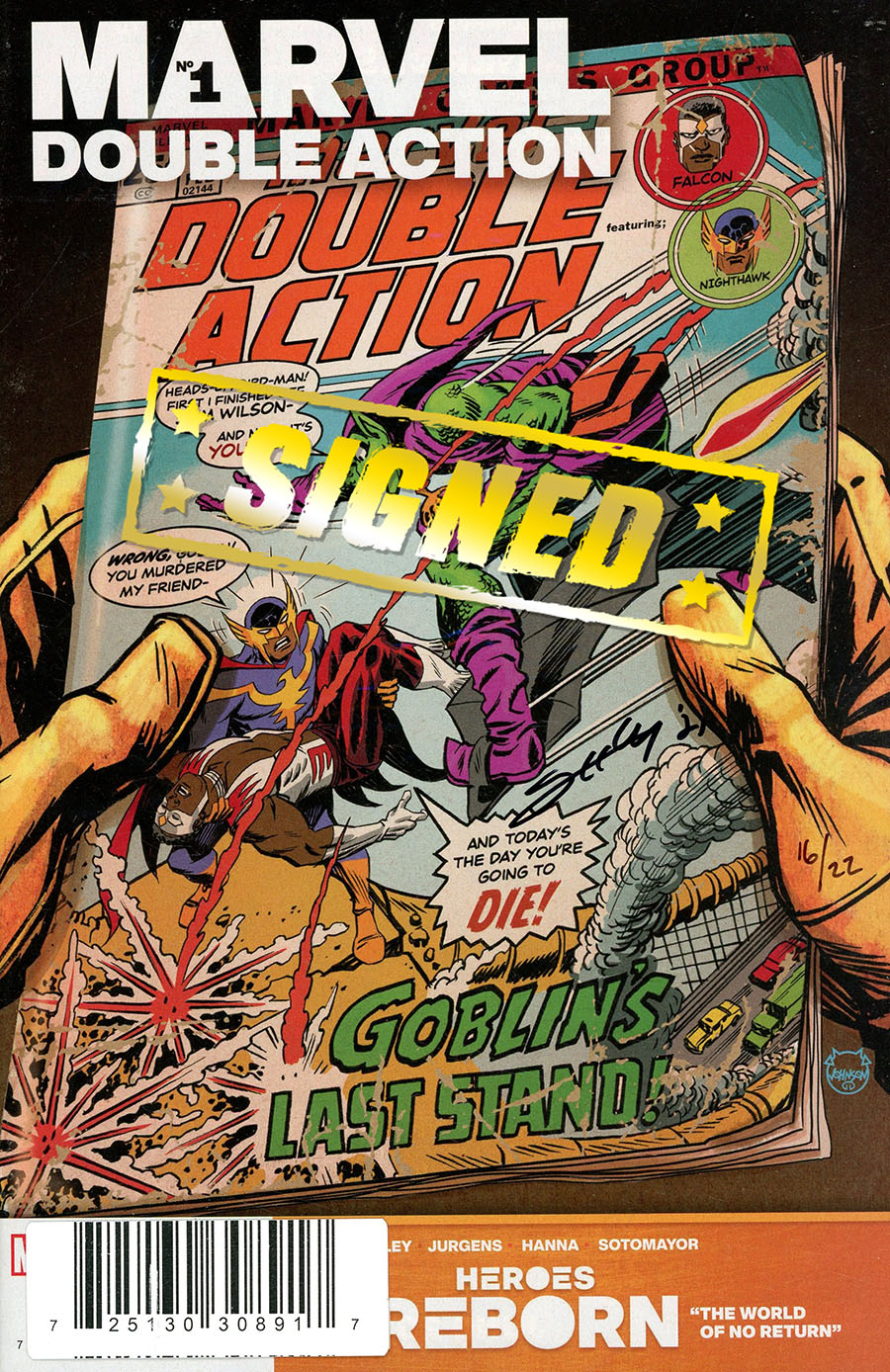 Heroes Reborn Marvel Double Action #1 (One Shot) Cover C DF Signed By Tim Seeley