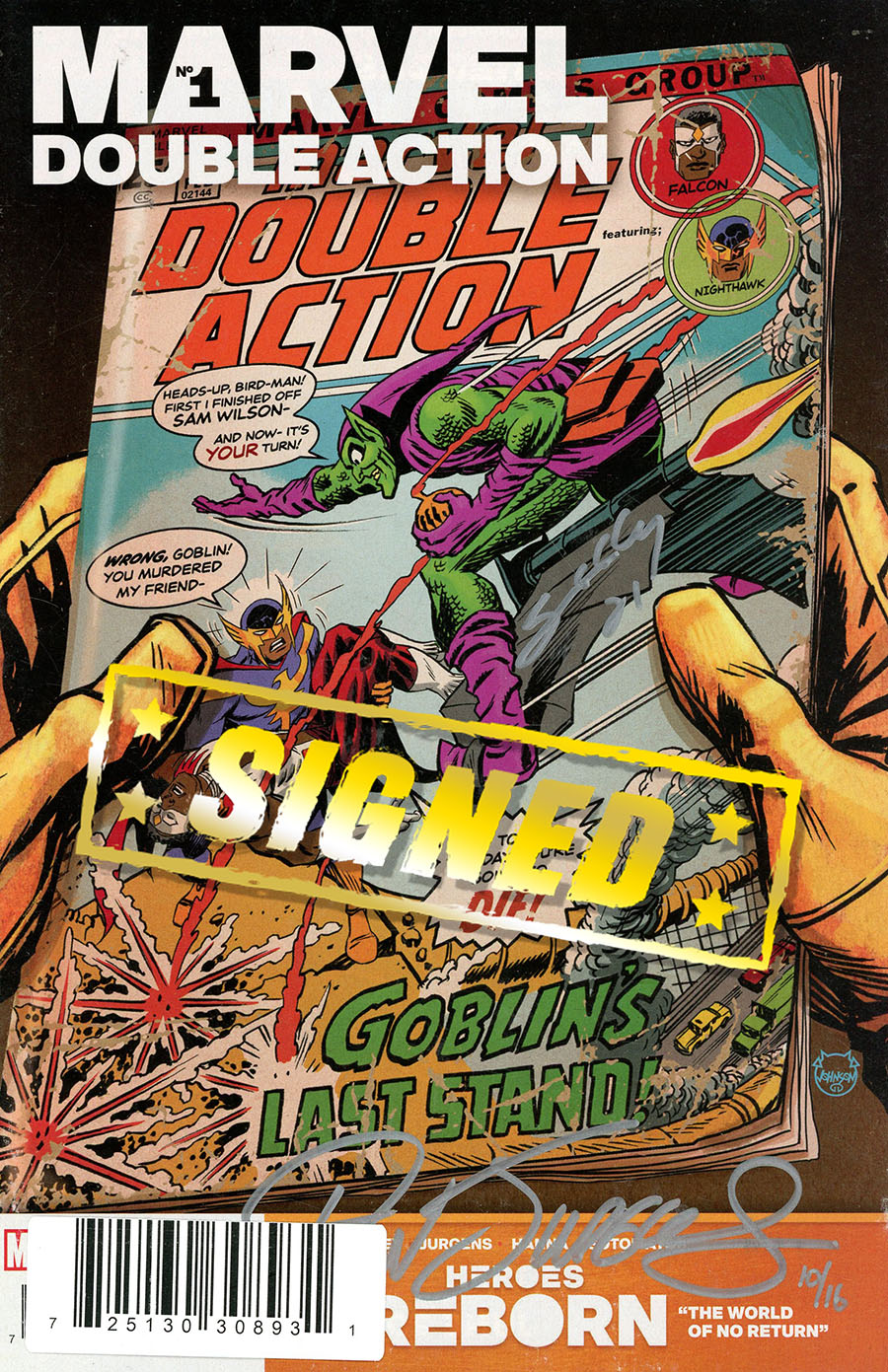 Heroes Reborn Marvel Double Action #1 (One Shot) Cover E DF Ultra-Limited Edition Signed By Tim Seeley & Dan Jurgens