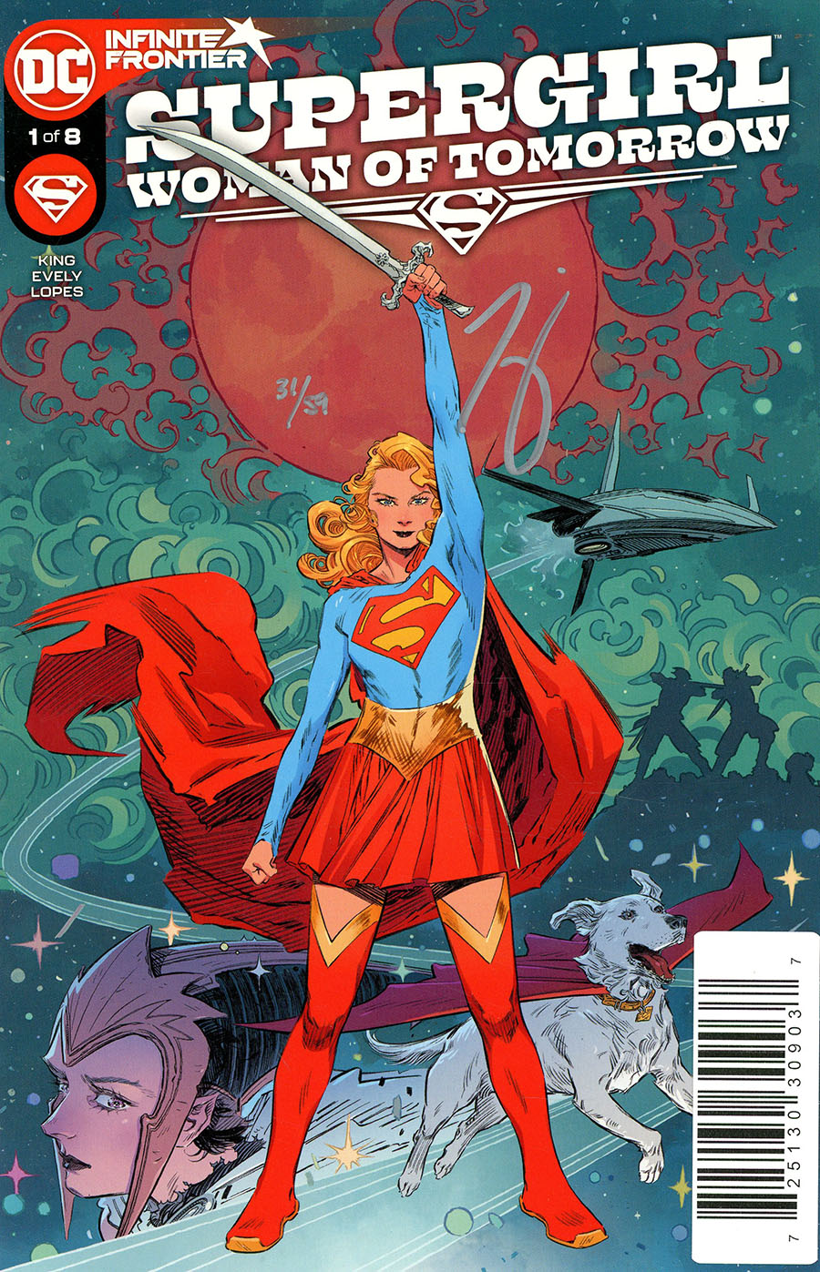 Supergirl Woman Of Tomorrow #1 Cover D DF Signed By Tom King