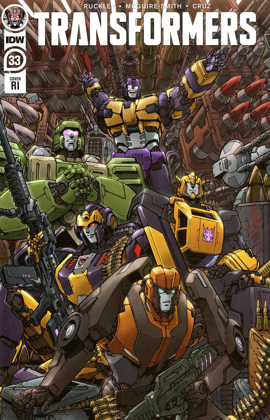 Transformers Vol 4 #33 Cover C Incentive Alex Milne Variant Cover