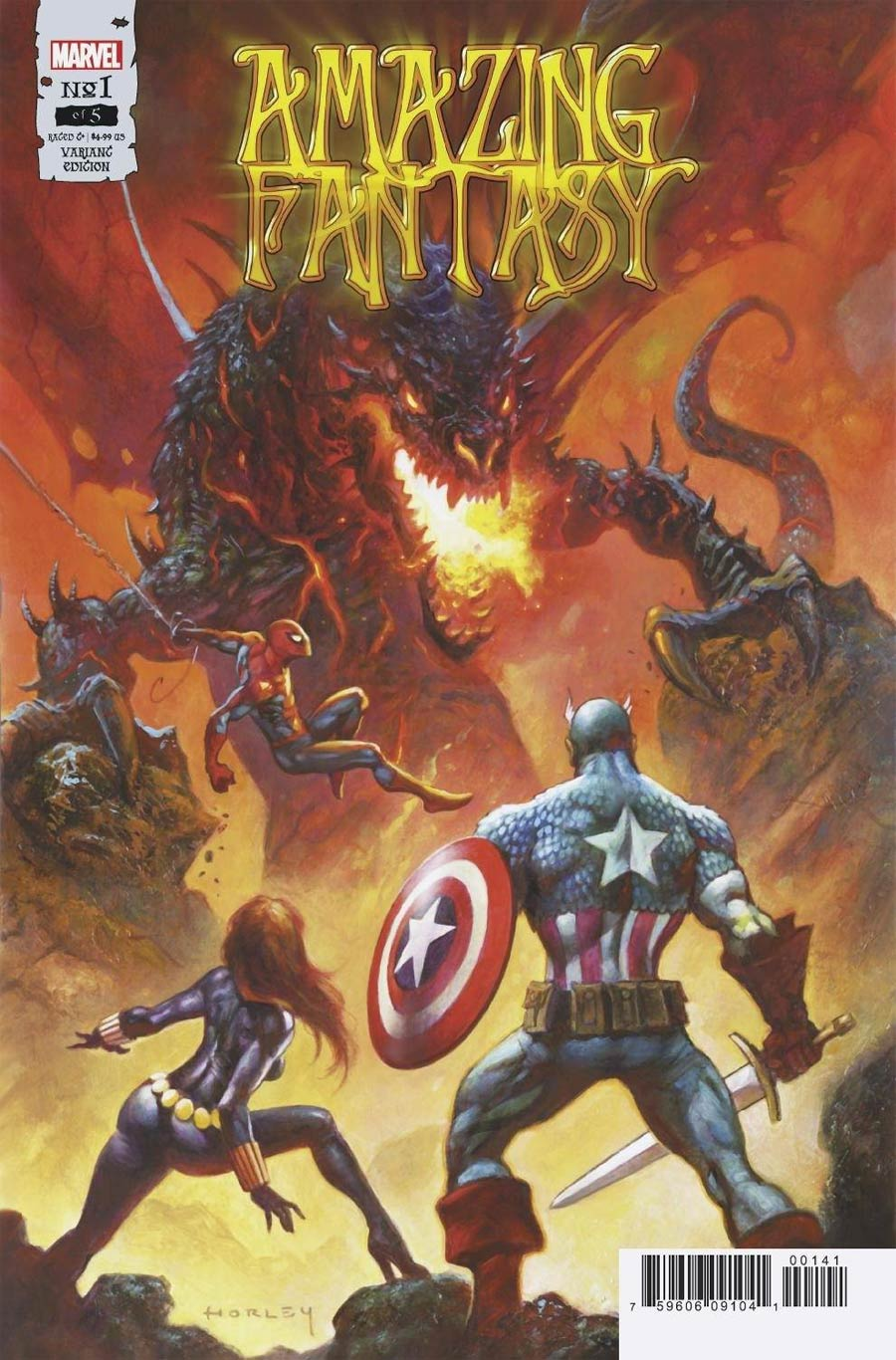 Amazing Fantasy Vol 3 #1 Cover C Incentive Alex Horley Variant Cover