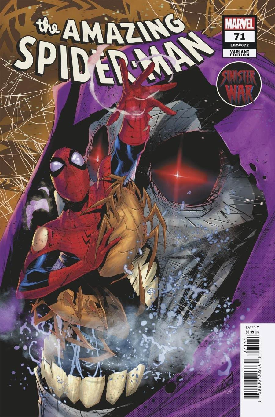 Amazing Spider-Man Vol 5 #71 Cover D Incentive Federico Vincentini Variant Cover (Sinister War Tie-In)