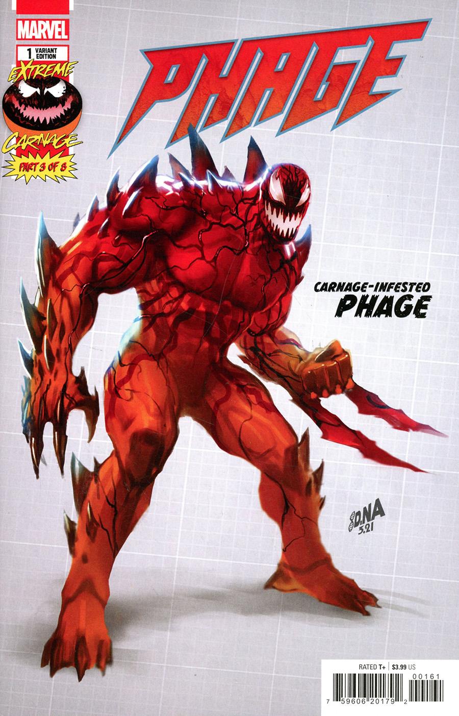 Extreme Carnage Phage #1 (One Shot) Cover D Incentive David Nakayama Design Variant Cover