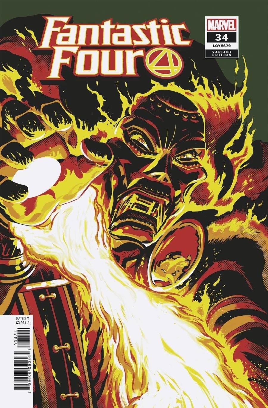 Fantastic Four Vol 6 #34 Cover C Incentive Javier Rodriguez Variant Cover