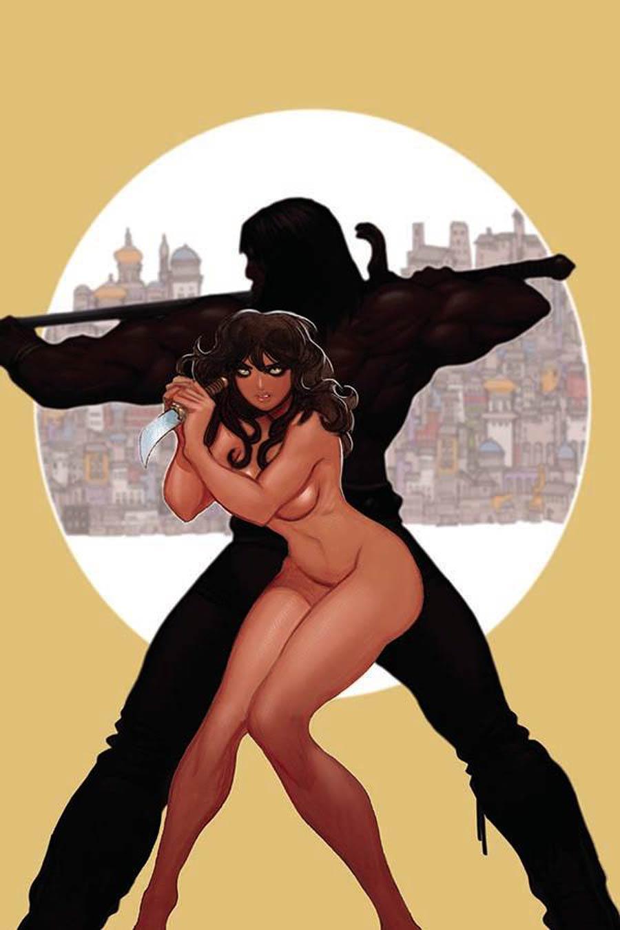 Cimmerian Man-Eaters Of Zamboula #1 Cover H Incentive Moritat Virgin Cover
