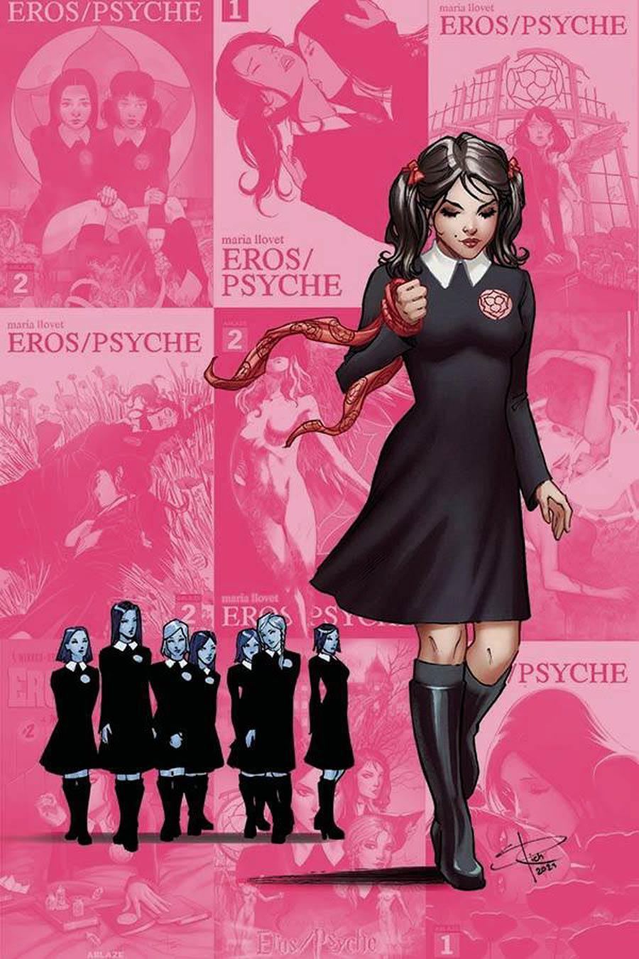 Maria Llovets Eros Psyche #5 Cover G Incentive Sabine Rich X-Men 138 Parody Virgin Cover