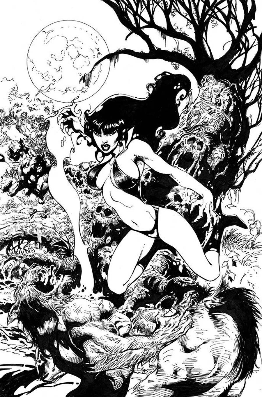 Vampirella Vol 8 #19 Cover J Incentive Roberto Castro Black & White Virgin Cover