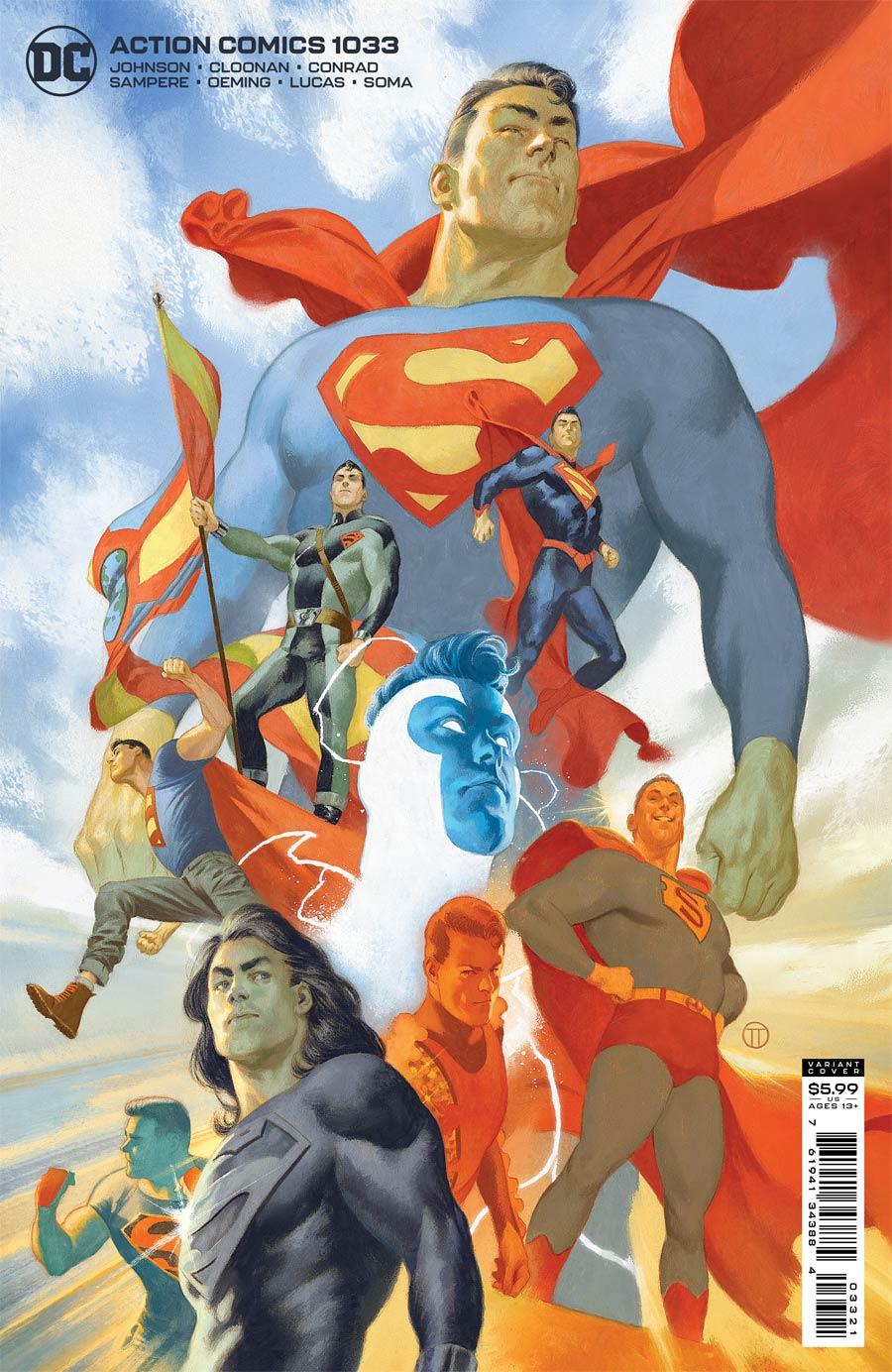 Action Comics Vol 2 #1033 Cover B Variant Julian Totino Tedesco Card Stock Cover