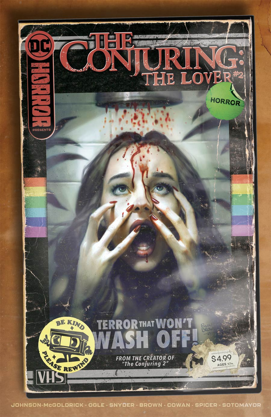 DC Horror Presents The Conjuring The Lover #2 Cover B Variant Ryan Brown VHS Tribute Card Stock Cover