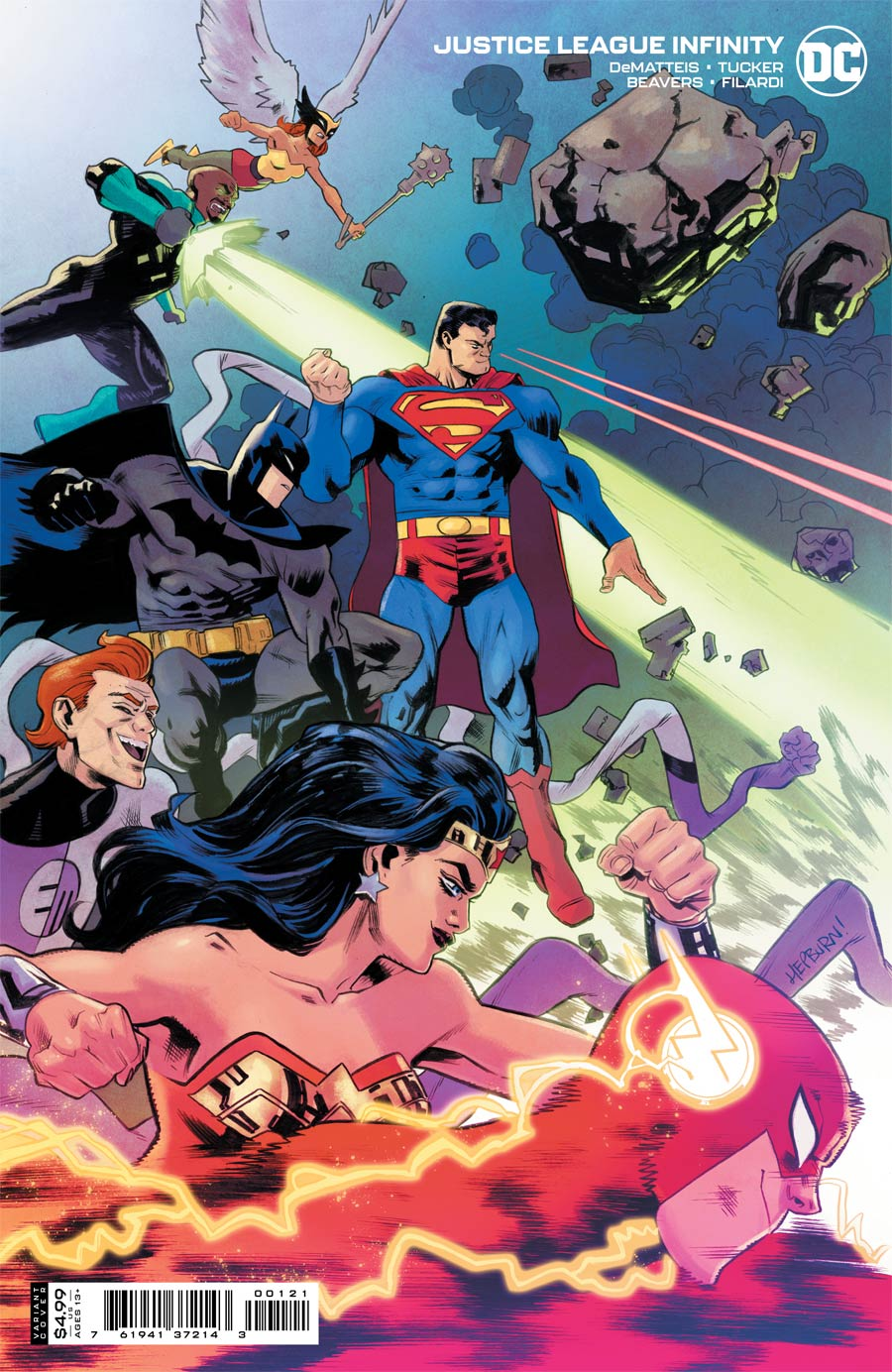 Justice League Infinity #1 Cover B Variant Scott Hepburn Card Stock Cover