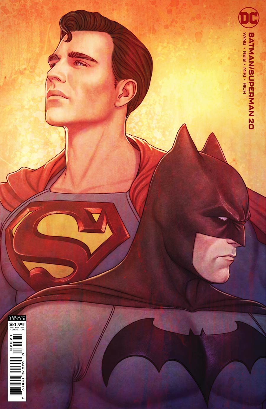 Batman Superman Vol 2 #20 Cover B Variant Jenny Frison Card Stock Cover