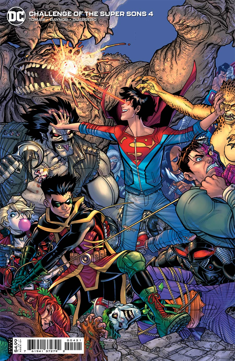 Challenge Of The Super Sons #4 Cover B Variant Nick Bradshaw Card Stock Cover