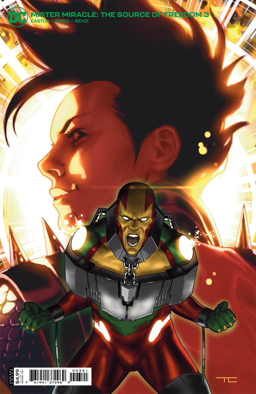 Mister Miracle The Source Of Freedom #3 Cover B Variant Taurin Clarke Card Stock Cover