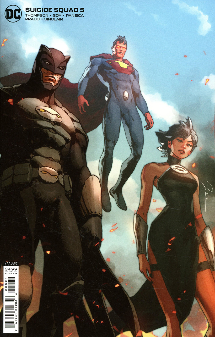 Suicide Squad Vol 6 #5 Cover B Variant Gerald Parel Card Stock Cover