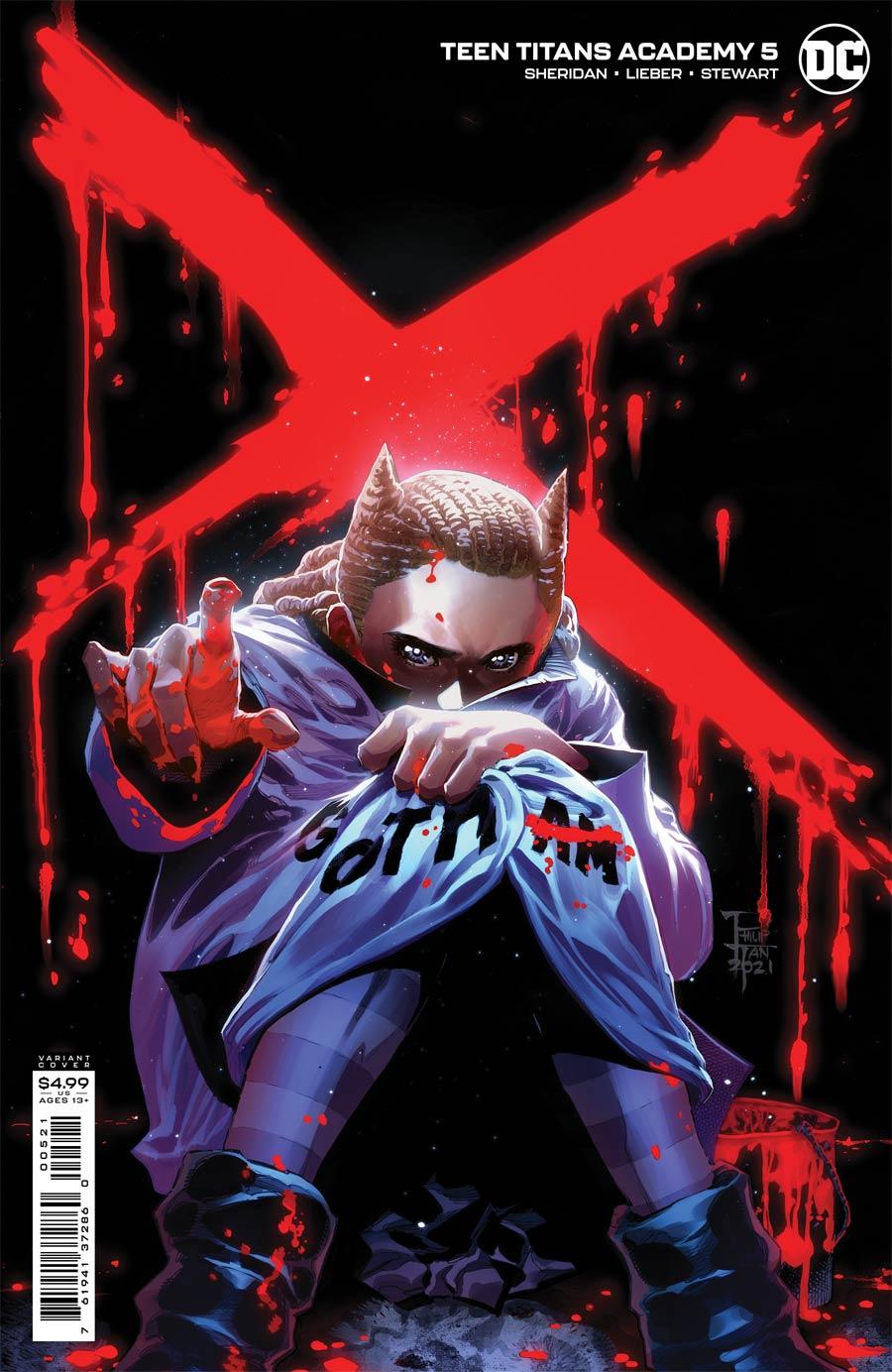 Teen Titans Academy #5 Cover B Variant Philip Tan Card Stock Cover