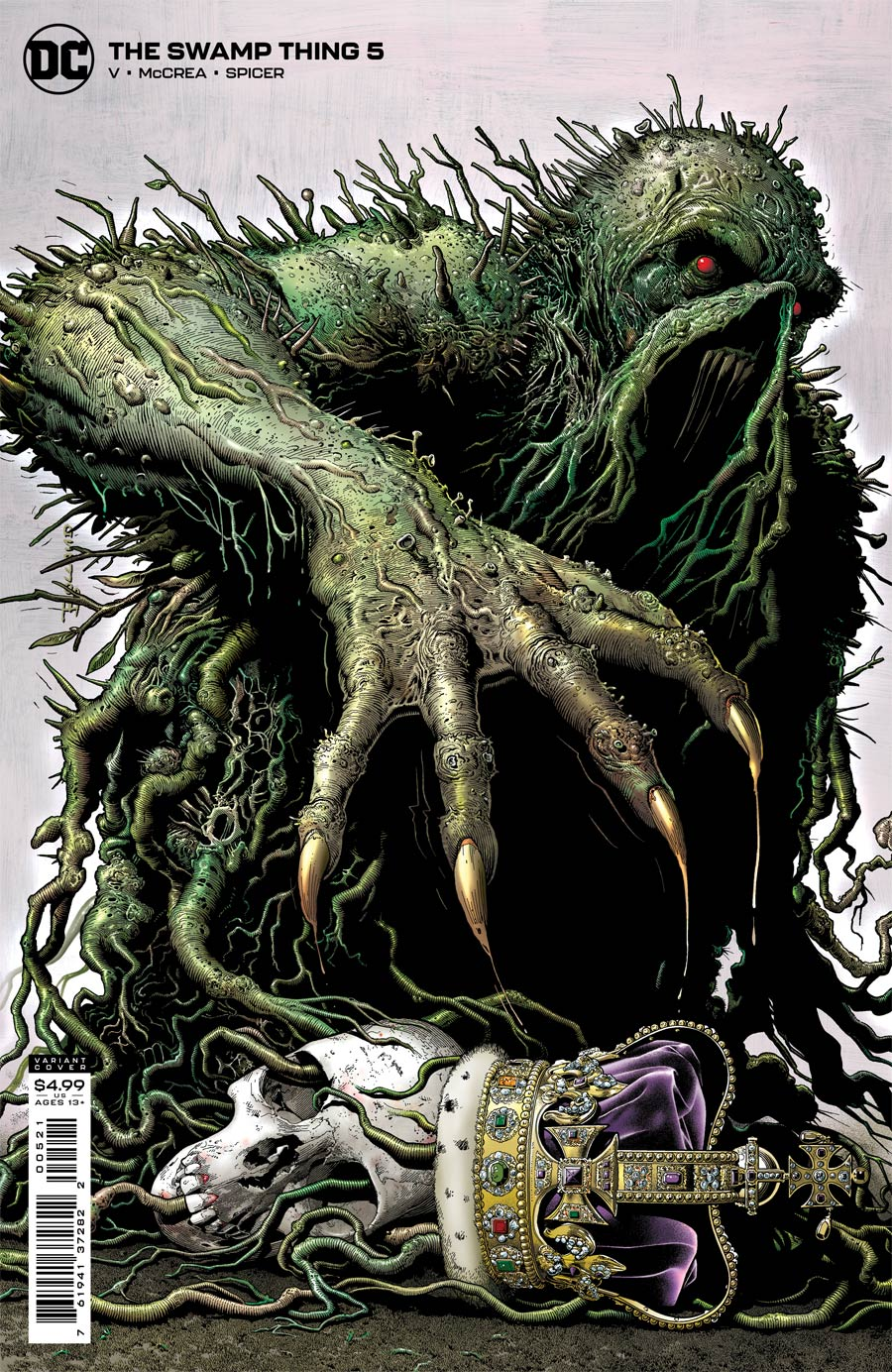Swamp Thing Vol 7 #5 Cover B Variant Brian Bolland Card Stock Cover