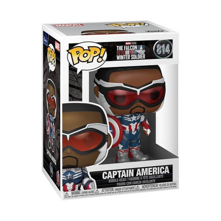 POP Marvel 814 The Falcon And Winter Soldier Captain America Vinyl Bobble Head