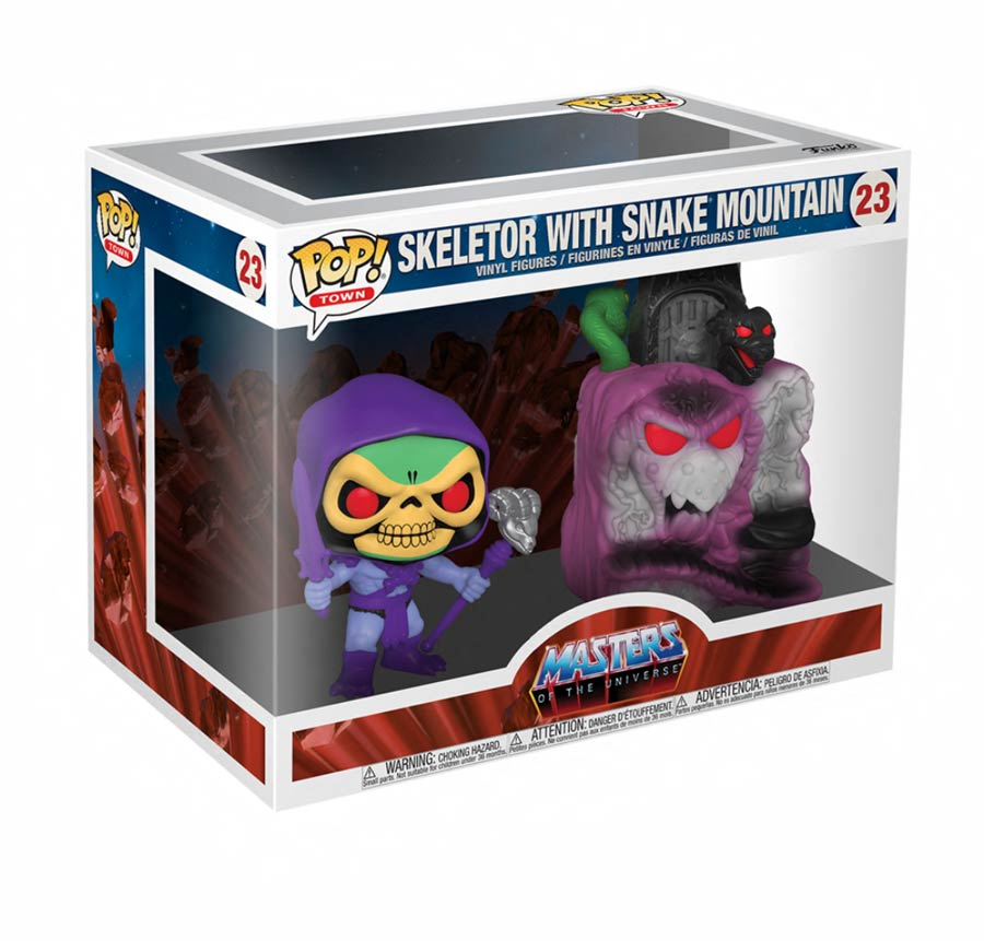 POP Town Masters Of The Universe Snake Mountain With Skeletor Vinyl Figure
